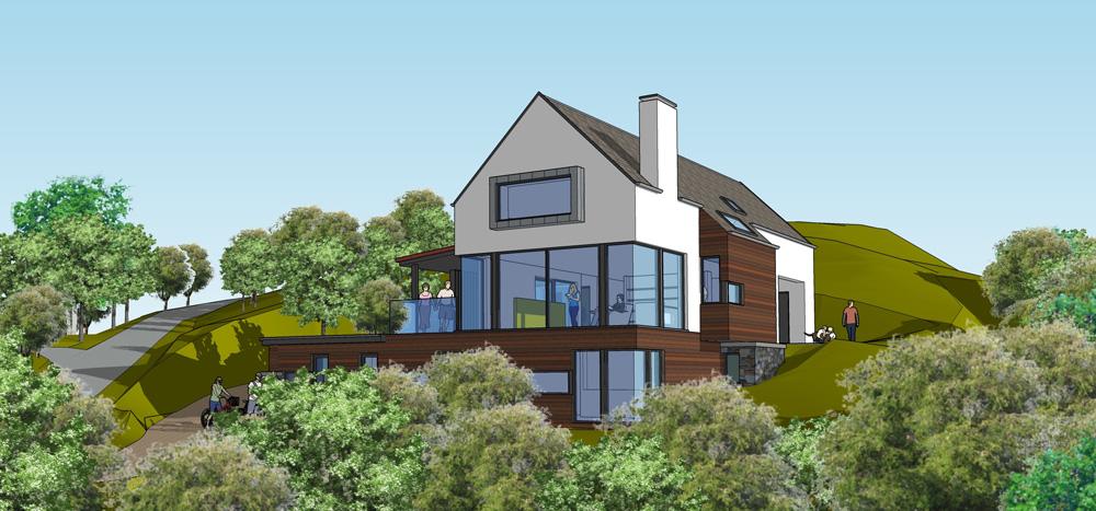 New House Sketch, Ardnamurchan