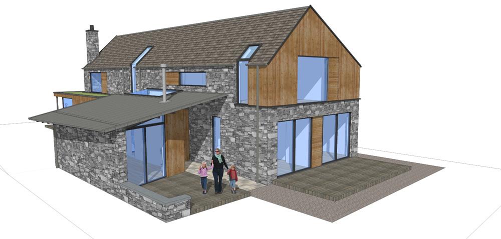 New House Sketch, Oban