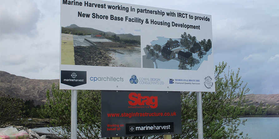 Work begins on-site for Marine Harvest new Shore Base Facility, Isle of Rum