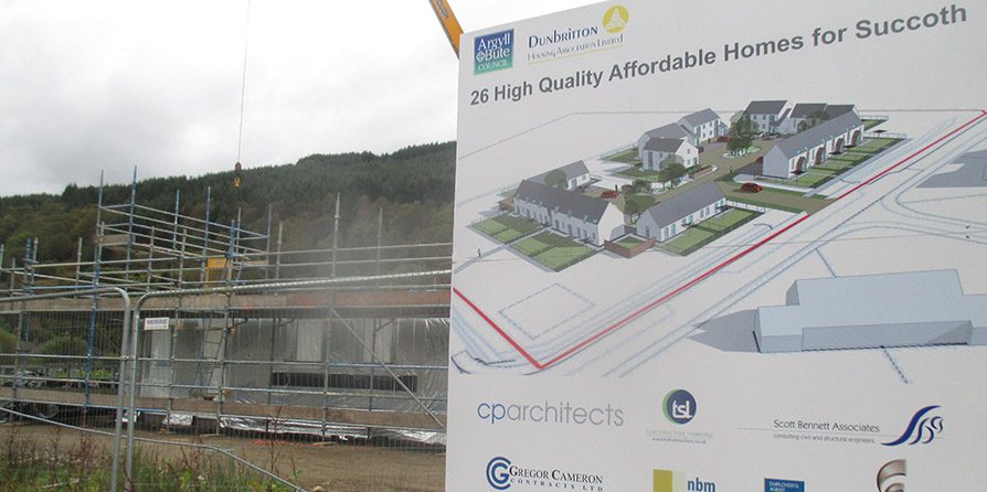 New Build Affordable Houses begins on-site at Arrochar