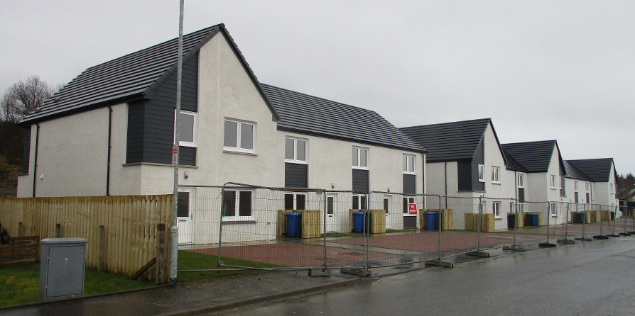 New Build Affordable Houses completed at the former Lochgilphead High School