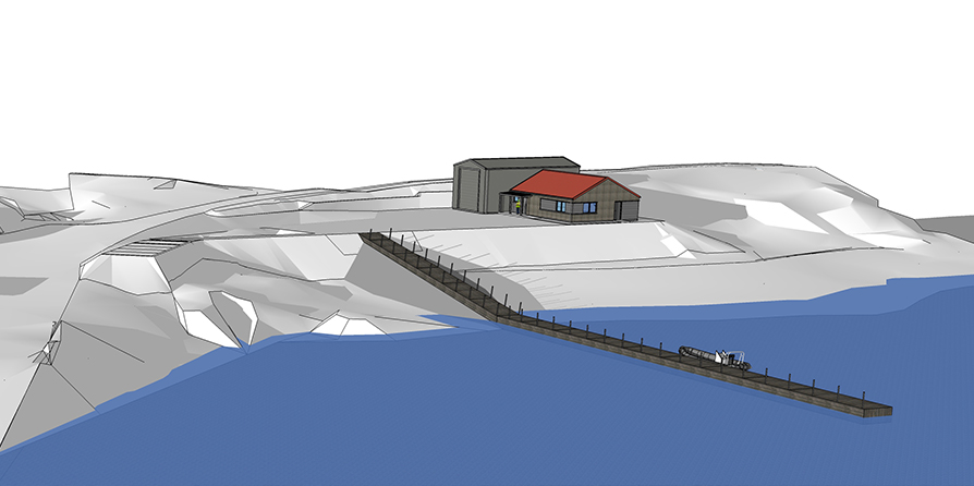 Marine Harvest Ltd, New Shore Base Facility and pontoon, Isle of Rum